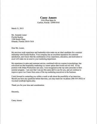 Cover Letter Template Uva
