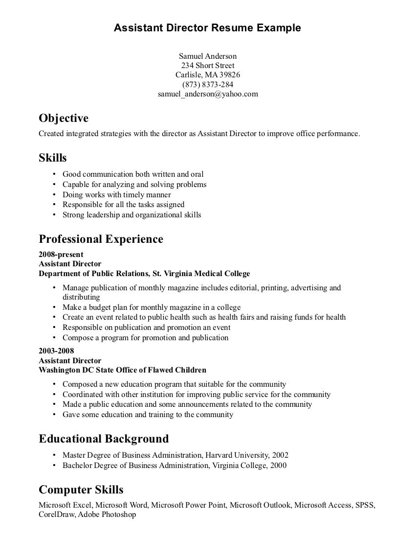 Resume Format With Skills