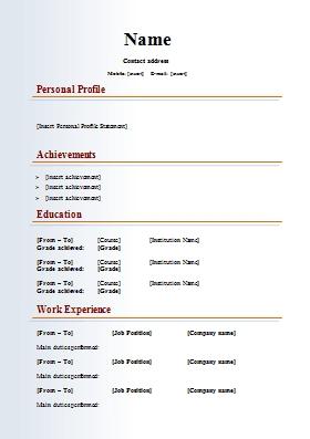 Resume Format Kaise Banaye Resume Format