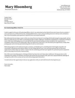 Cover Letter Template Hloom