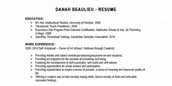 Resume Format Indeed