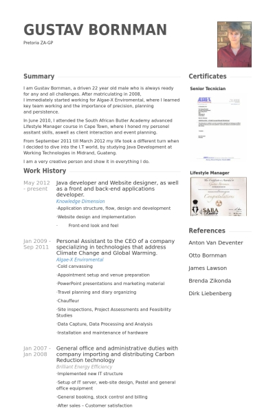 Cv Template Java Developer