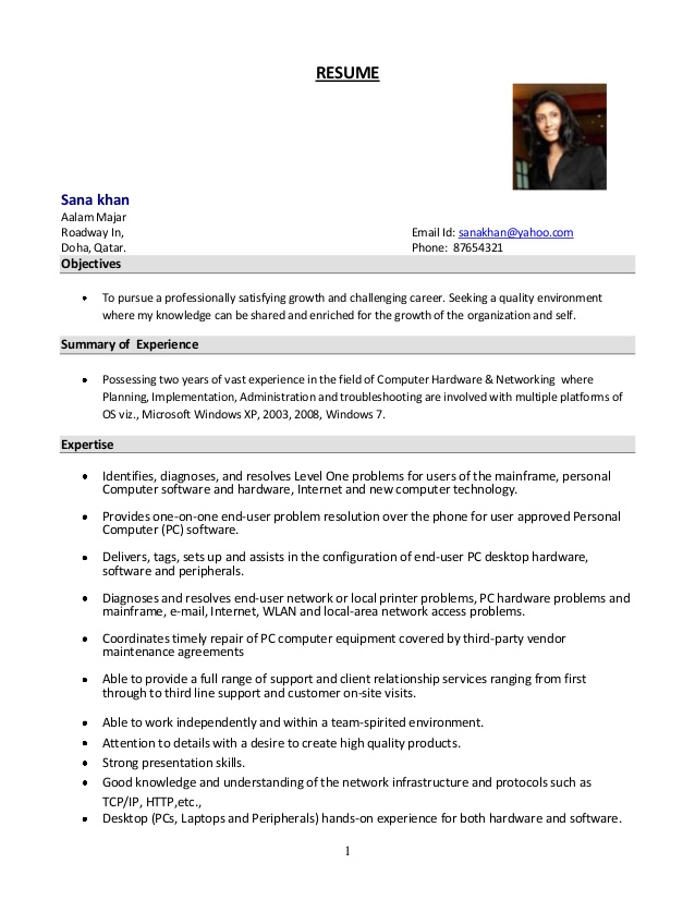 Resume Format 7 Years Experience