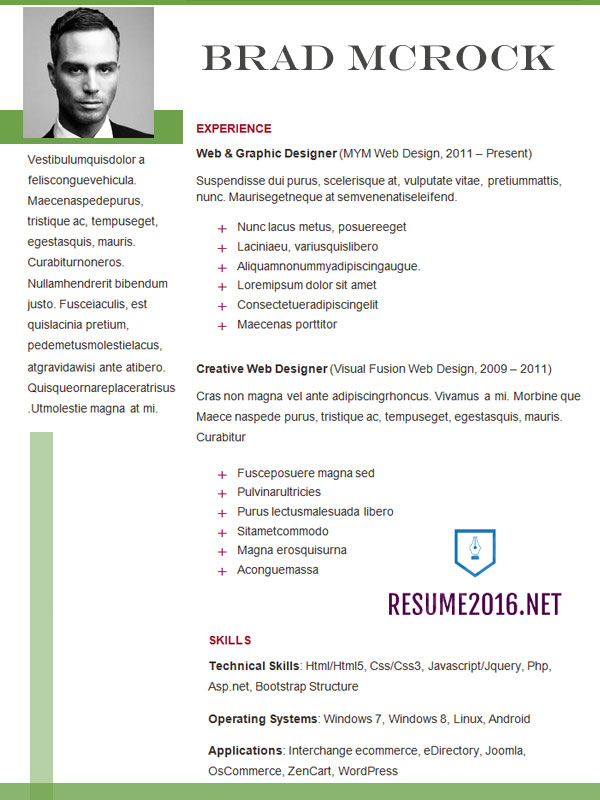 Cv Template Latest