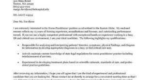 Cover Letter Template Nurse Practitioner