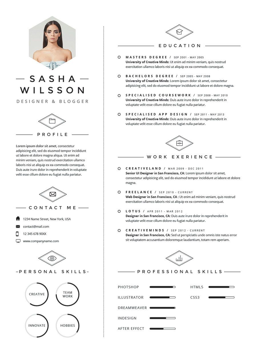 5 Page Cv Template