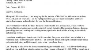 Cover Letter Template Queensland Health