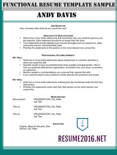 Resume Format Highlighting Experience