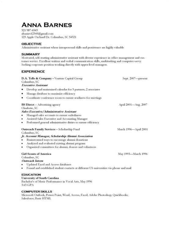 Resume Format For 4 Months Experience