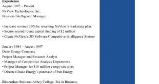 F B Resume Format