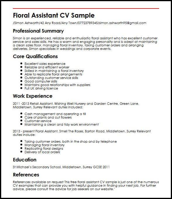 Cv Template Job Centre