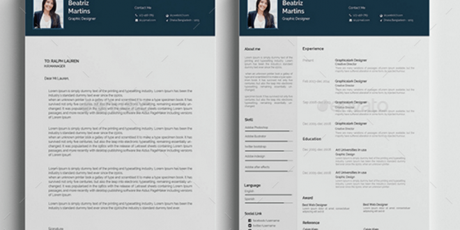 Cv Template Adobe Illustrator - Resume Format