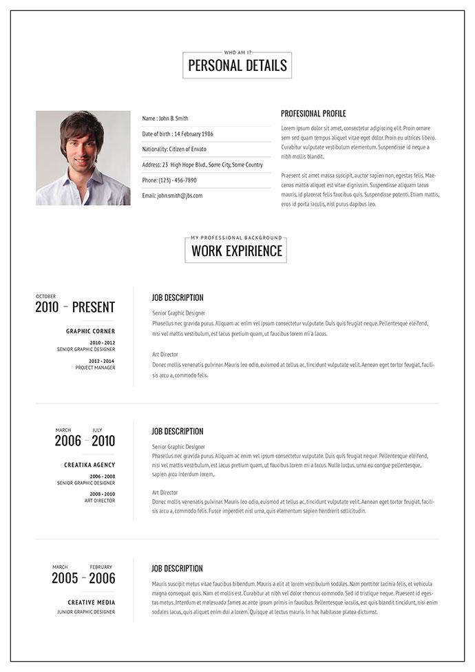 Resume Format Online