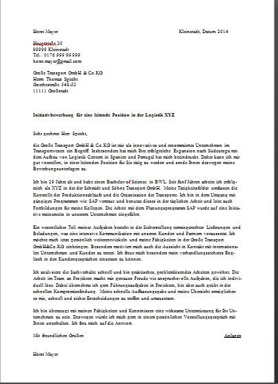 Cover Letter Template Germany
