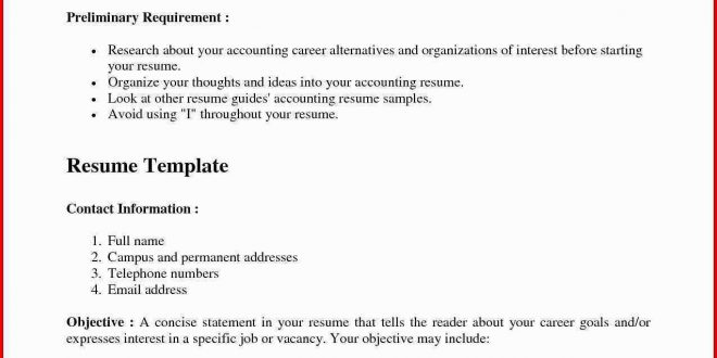Resume Format 3 Years Experience