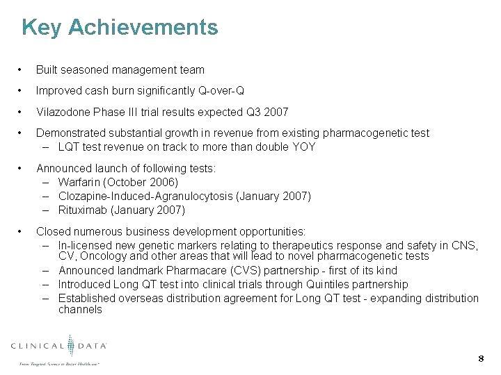 Cv Template Key Achievements