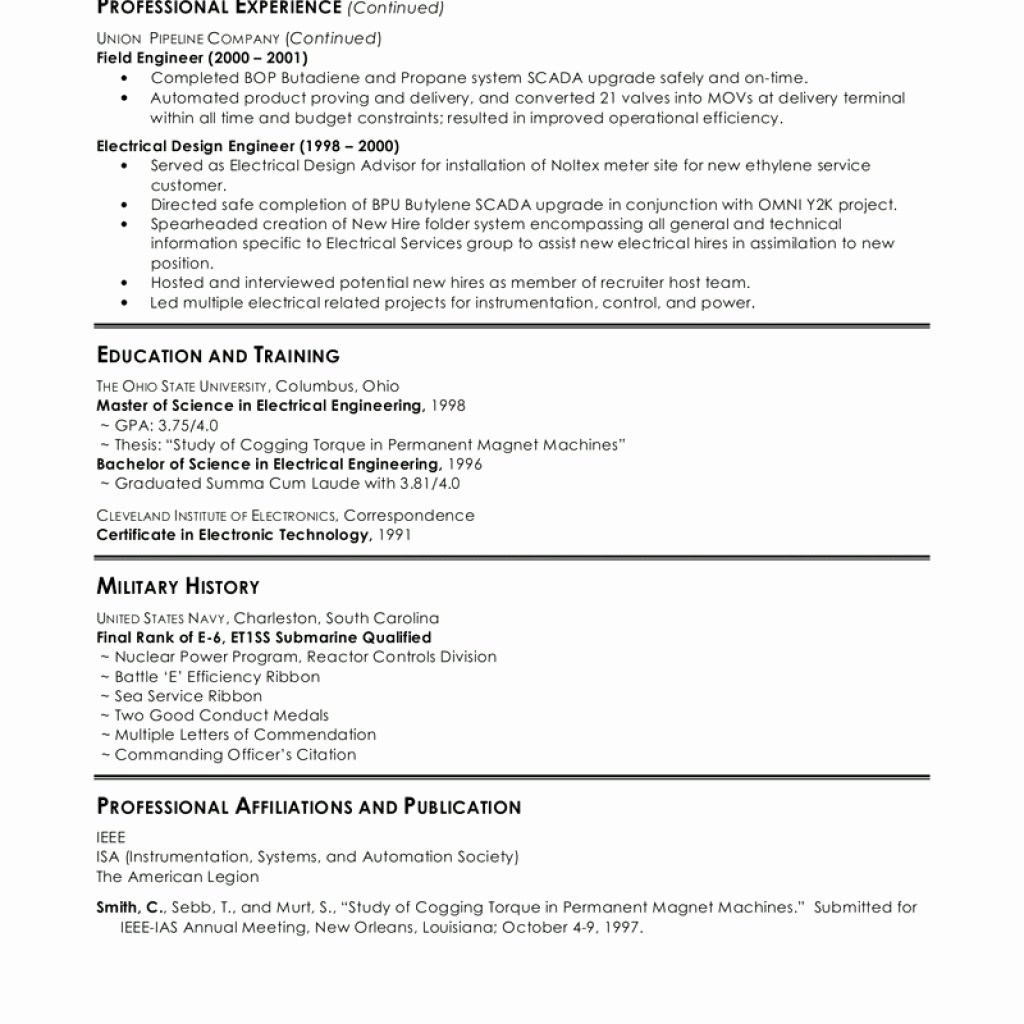 0-1 Year Experience Resume Format