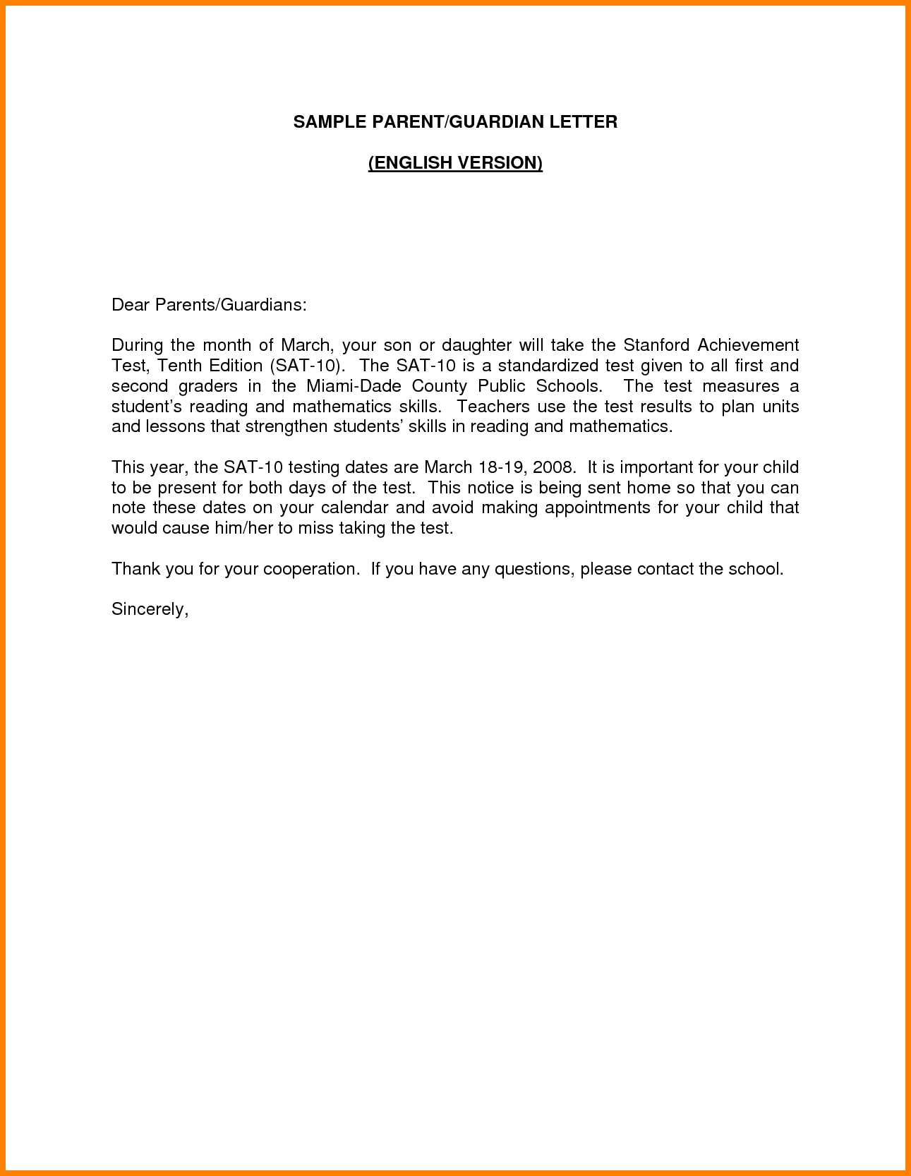 Cover Letter Template Guardian