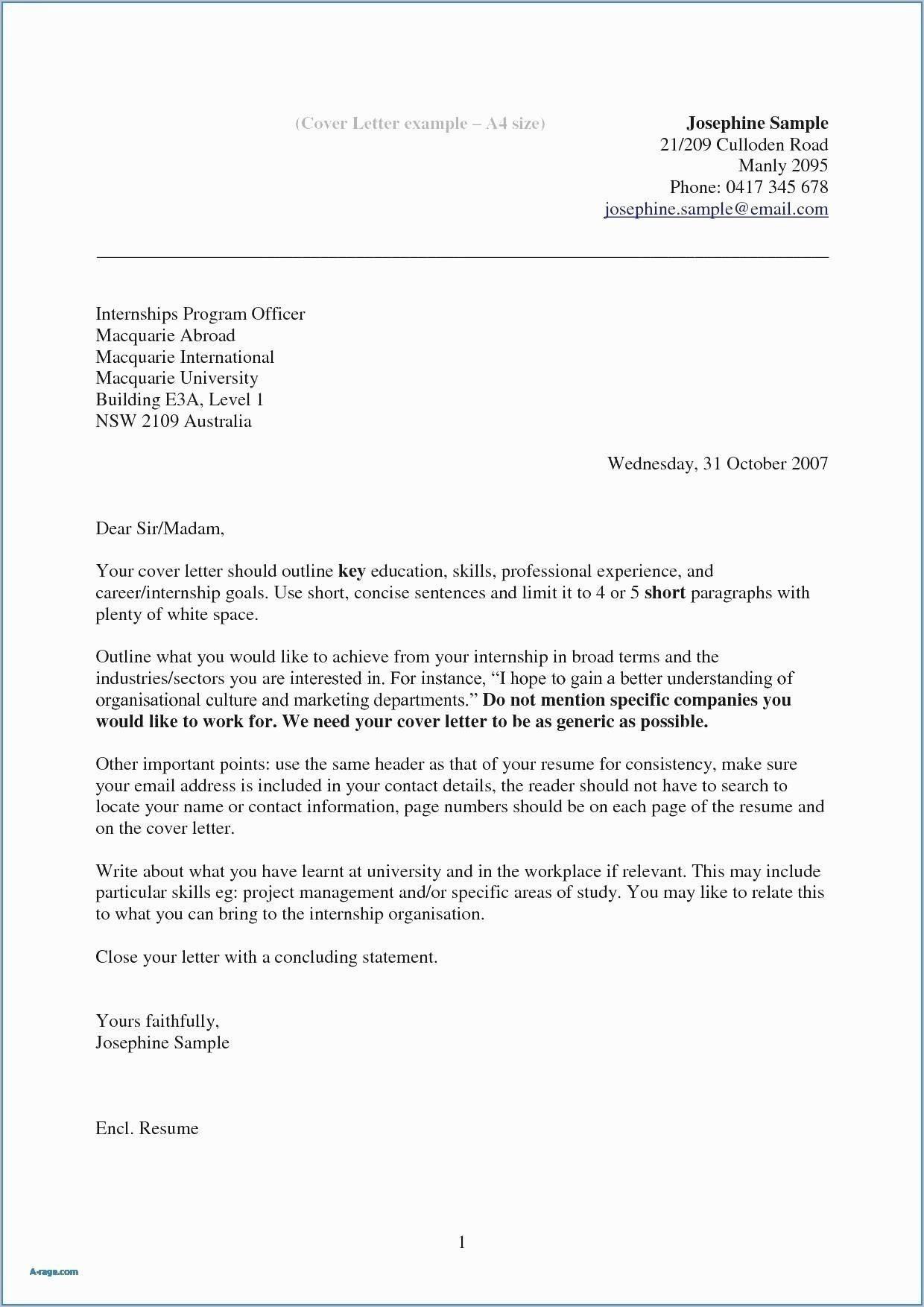 Cover Letter Template Qut
