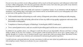X Ray Tech Cover Letter Template