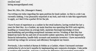 Cover Letter Template For Retail