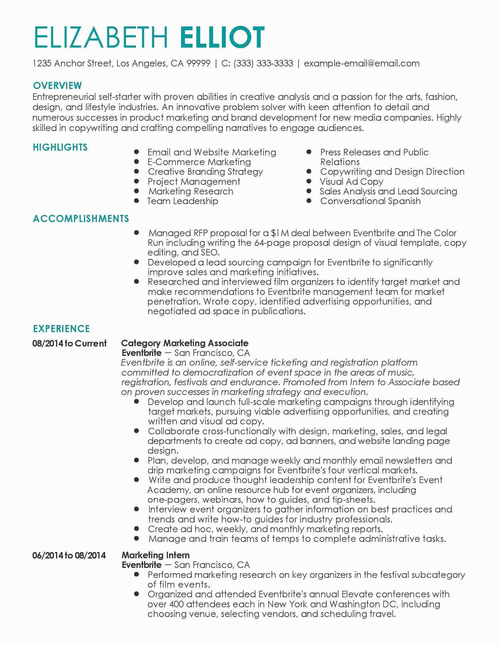 Ecommerce Resume Formats