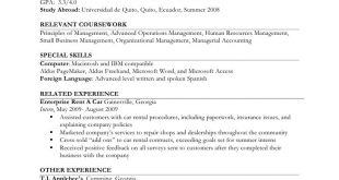 Resume Format Job Experience