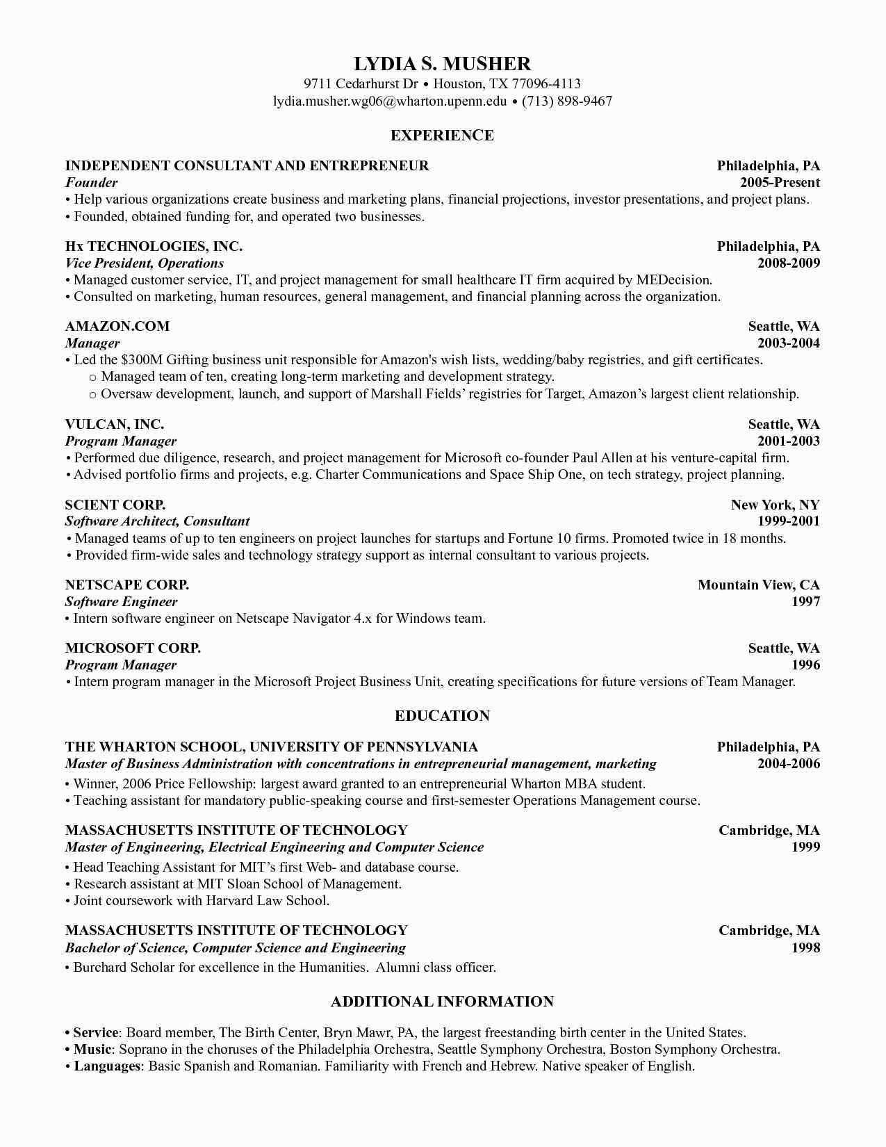 Cv Template Harvard Resume Format