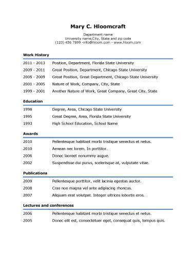 Resume Format Basic
