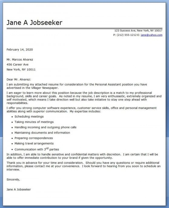 Cover Letter Template Umich