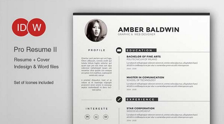 Cv Template Adobe Illustrator