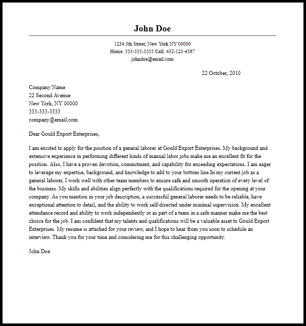 Cover Letter Template And Examples