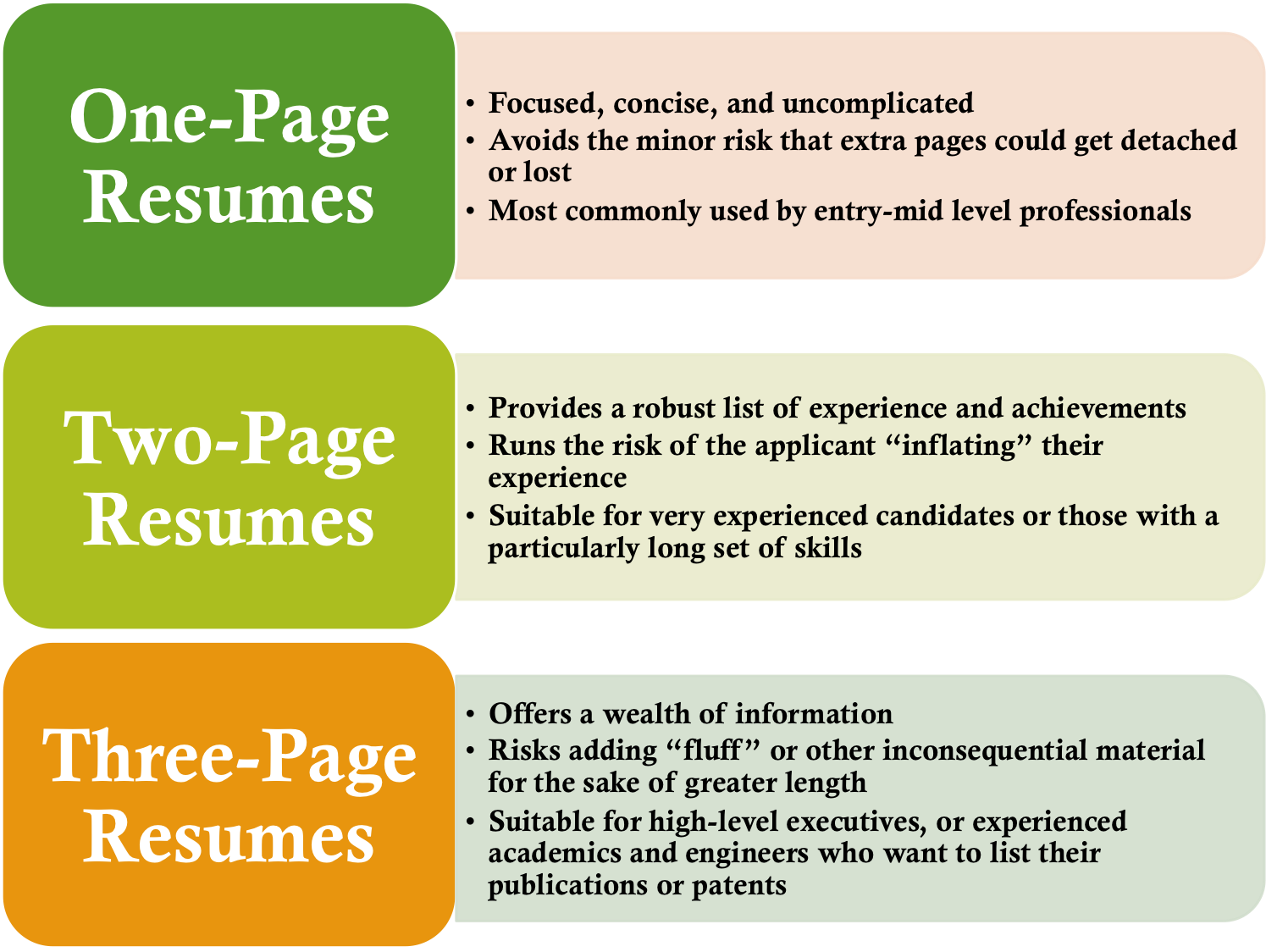 Resume Format Guidelines