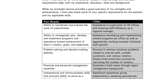 T Format Cover Letter Template