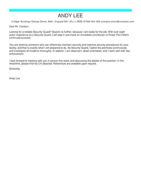 Cover Letter Template For Cv