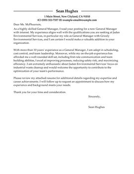 Cover Letter Template Management