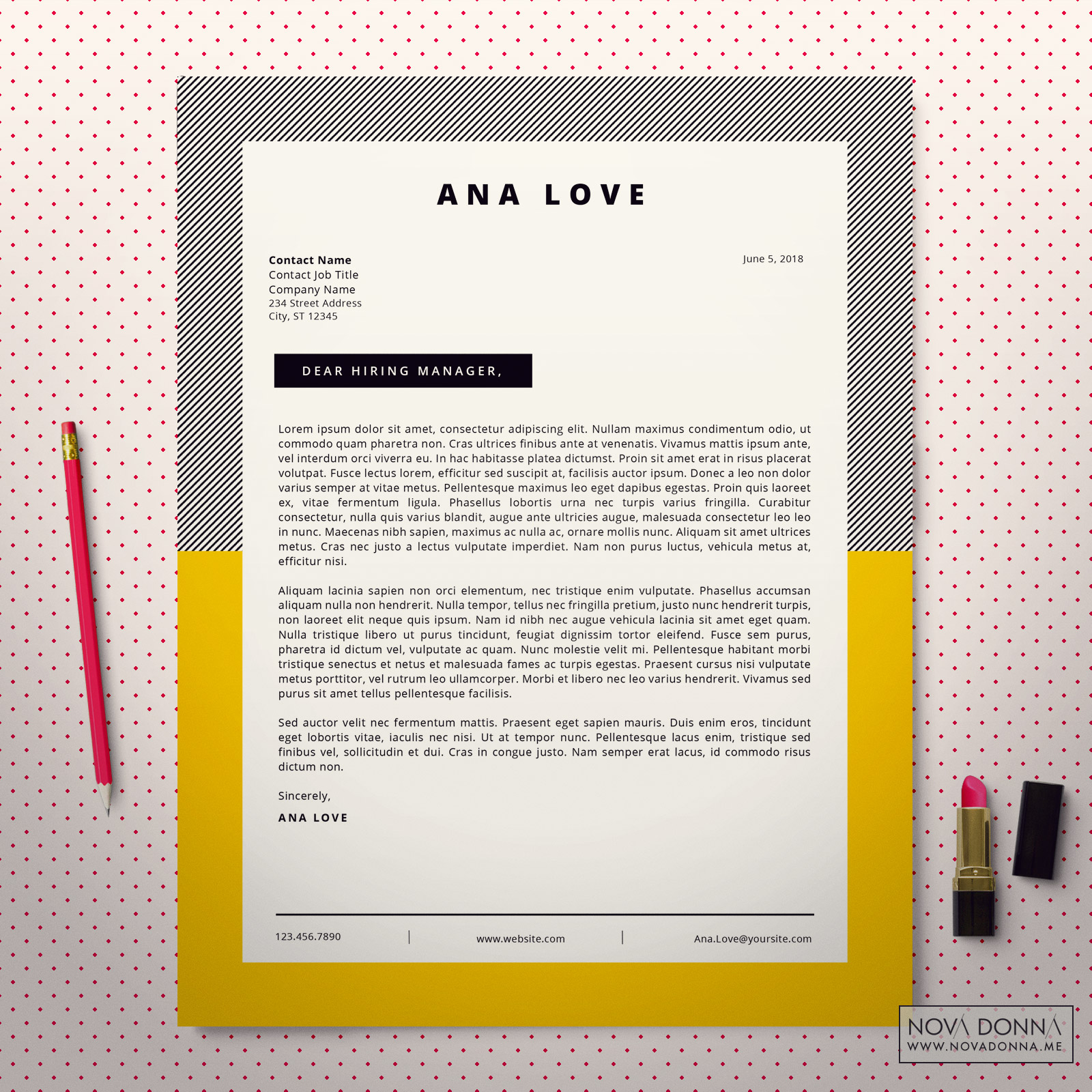 Cover Letter Template Design