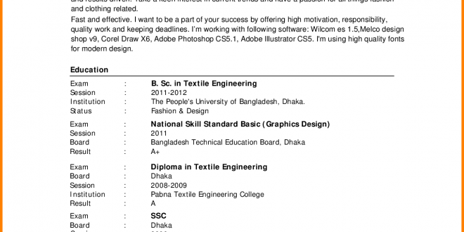 Cv Template Bangladesh