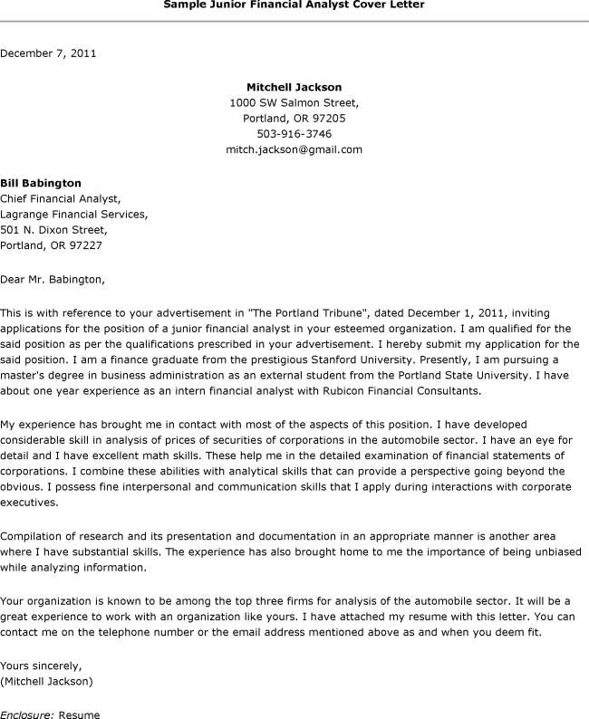 Entry Level Data Analyst Cover Letter: Cover Letter Template Analyst