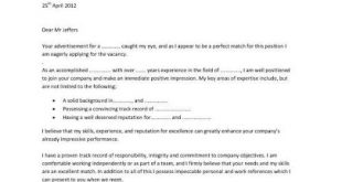 Cover Letter Template Sample