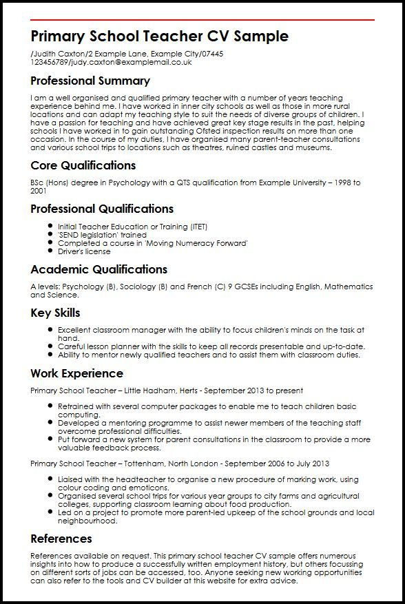 Cv Template Queensland Health