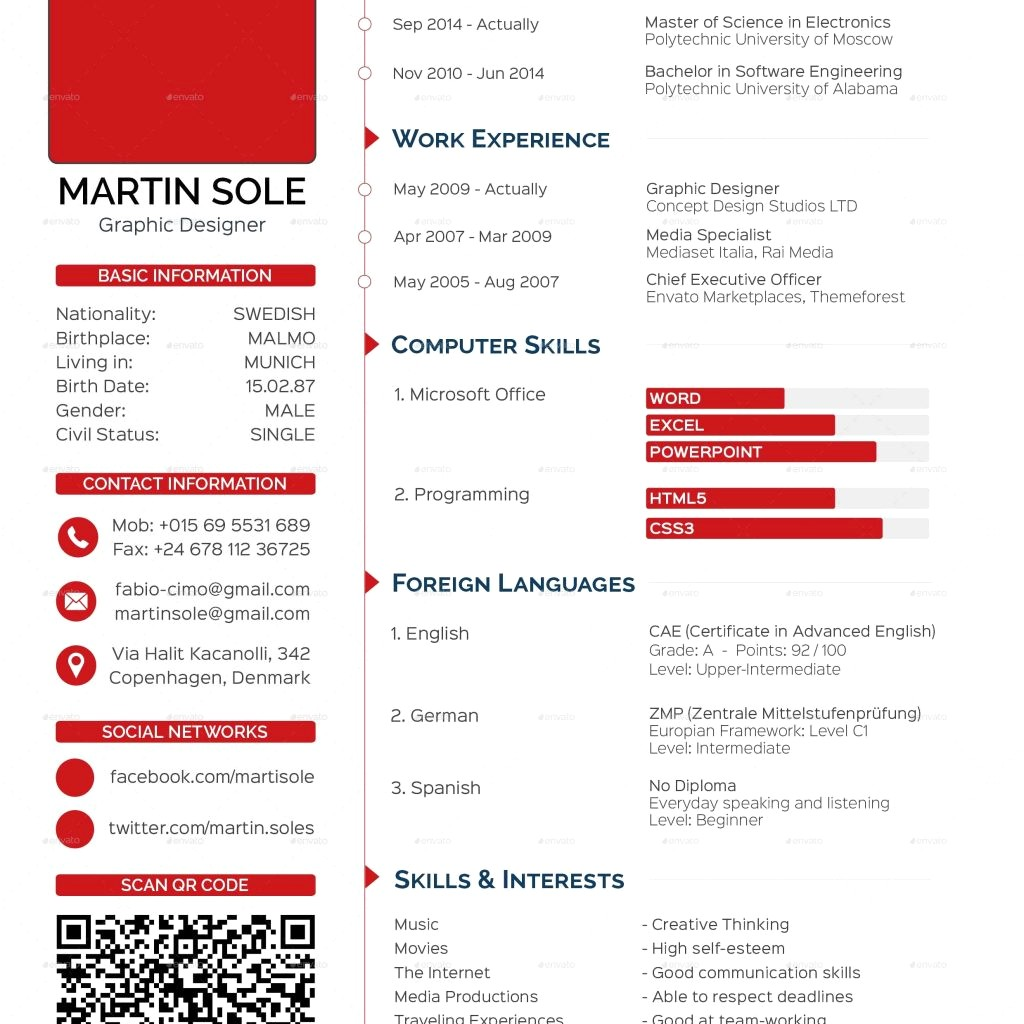 Cv Template Computer Science