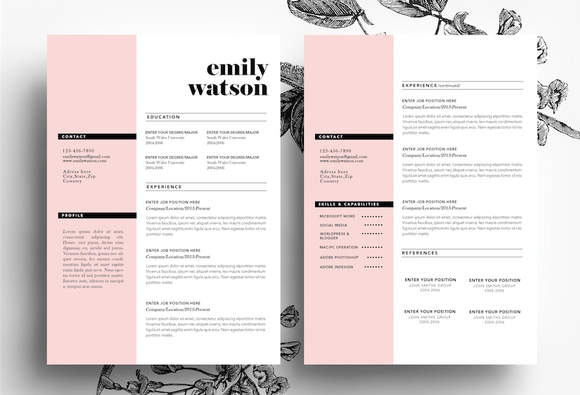 Cv Template 3 Pages