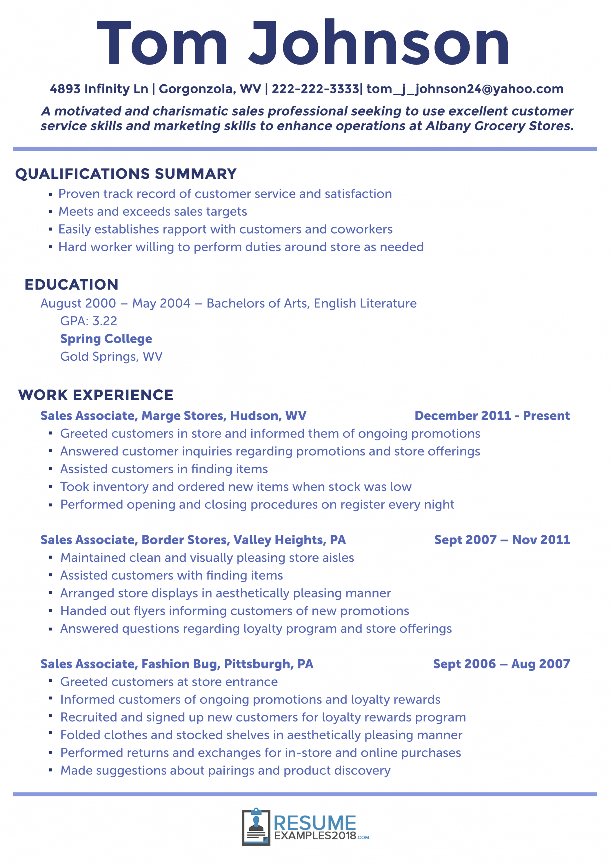 Resume Format Template 2018