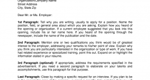 Cover Letter Template Address