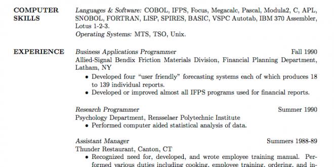 Cv Template Graduate School - Resume Format