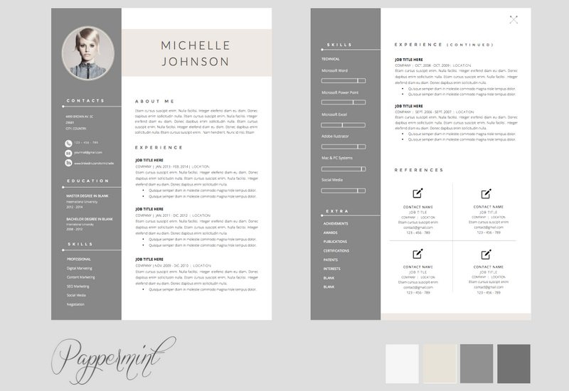 Cv Template In Pages