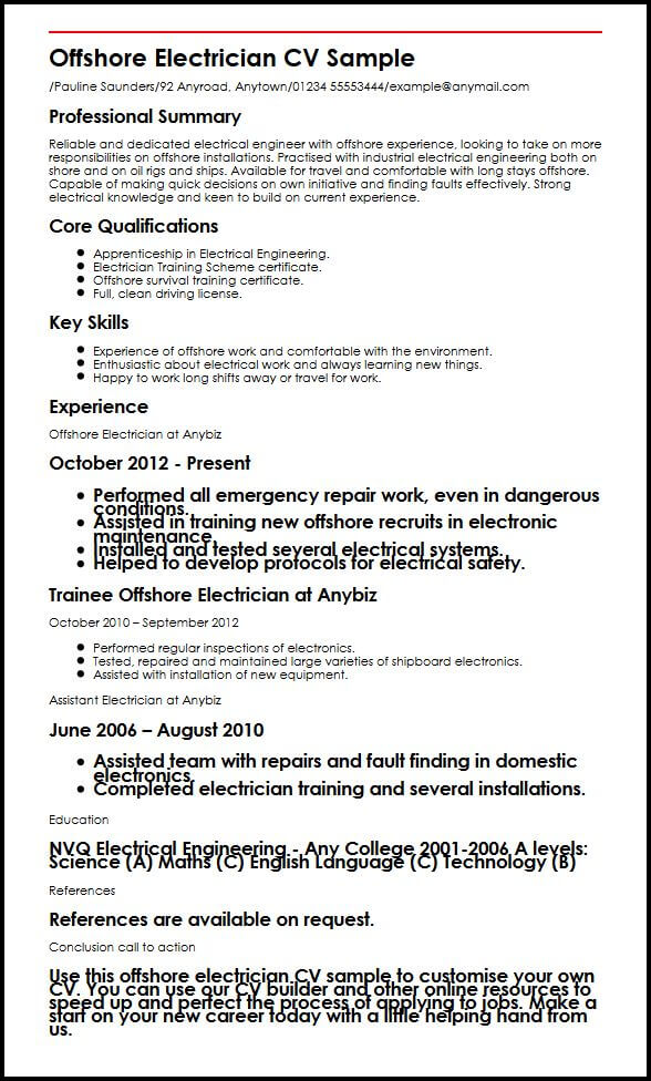 Electrical C License Resume Format